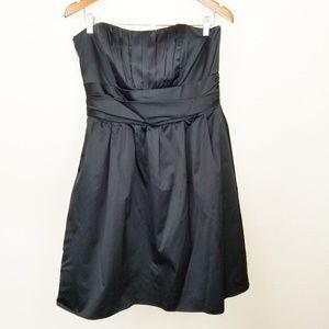 David's Bridal Strapless Little Black Dress
